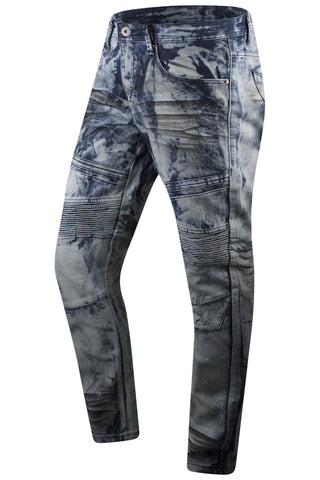 New Men Premium Biker Denim Jeans Original Fit
