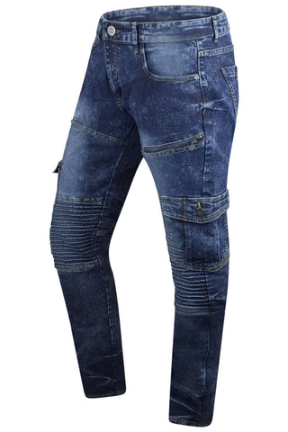 New Men Premium Denim Cargo Jeans