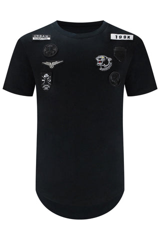 New Men Embroidered Patched T-Shirt