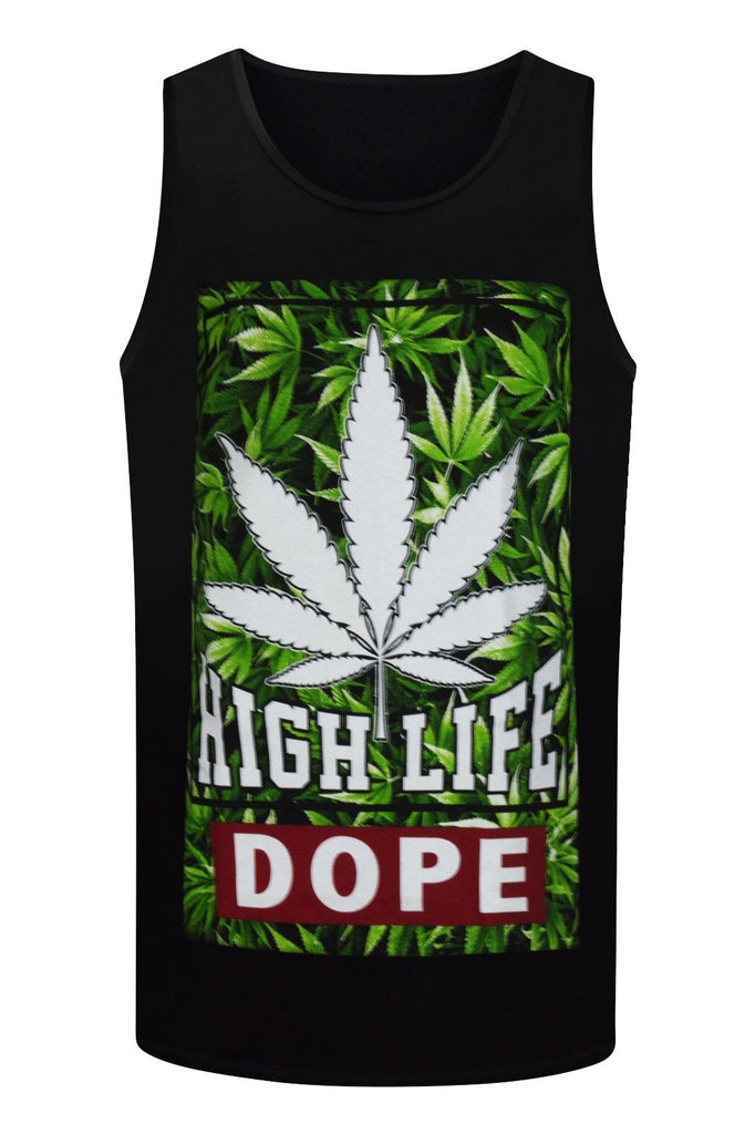 NEW Men Weed Tank Top Dope Shirt Tank Marijuana Summer Shirts Sizes M-3XL