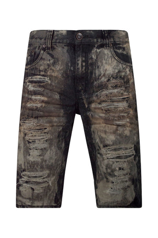 New Men Distressed Ripped Denim Shorts