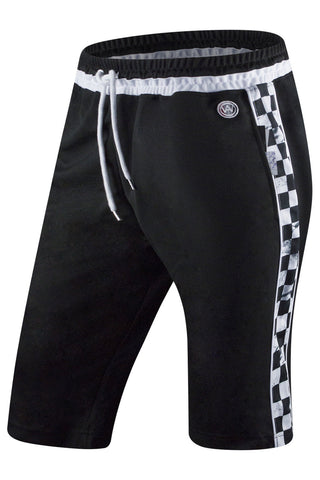New Men Track Checkered Shorts