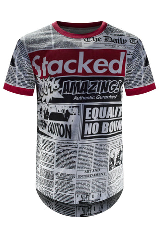 Savage Stacked Newspaper T-Shirt