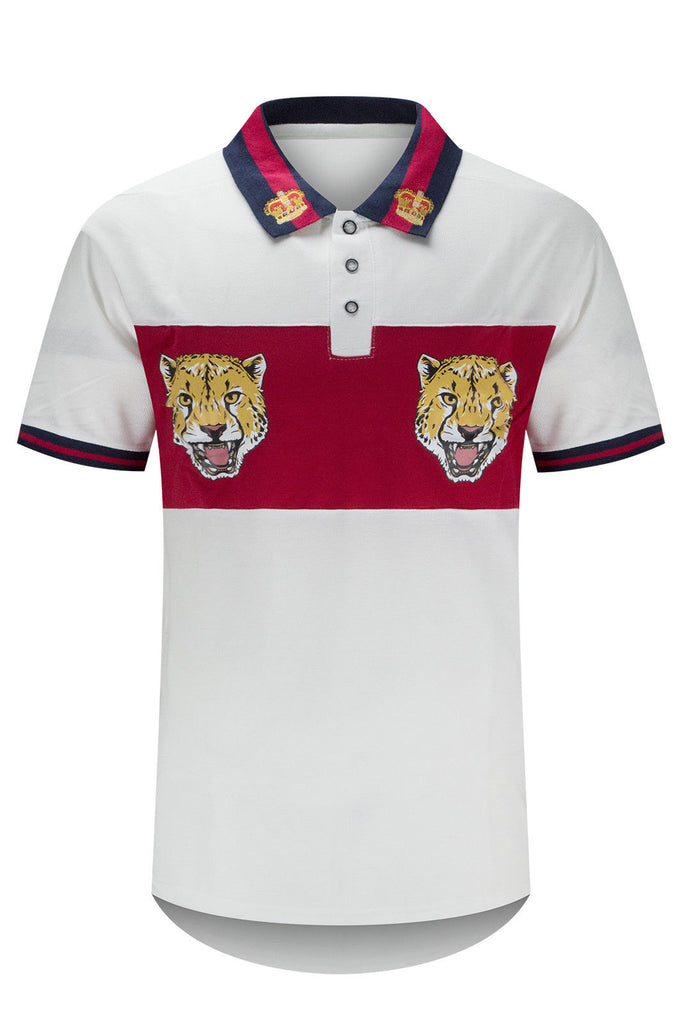 NEW Men Polo T-Shirt Tiger