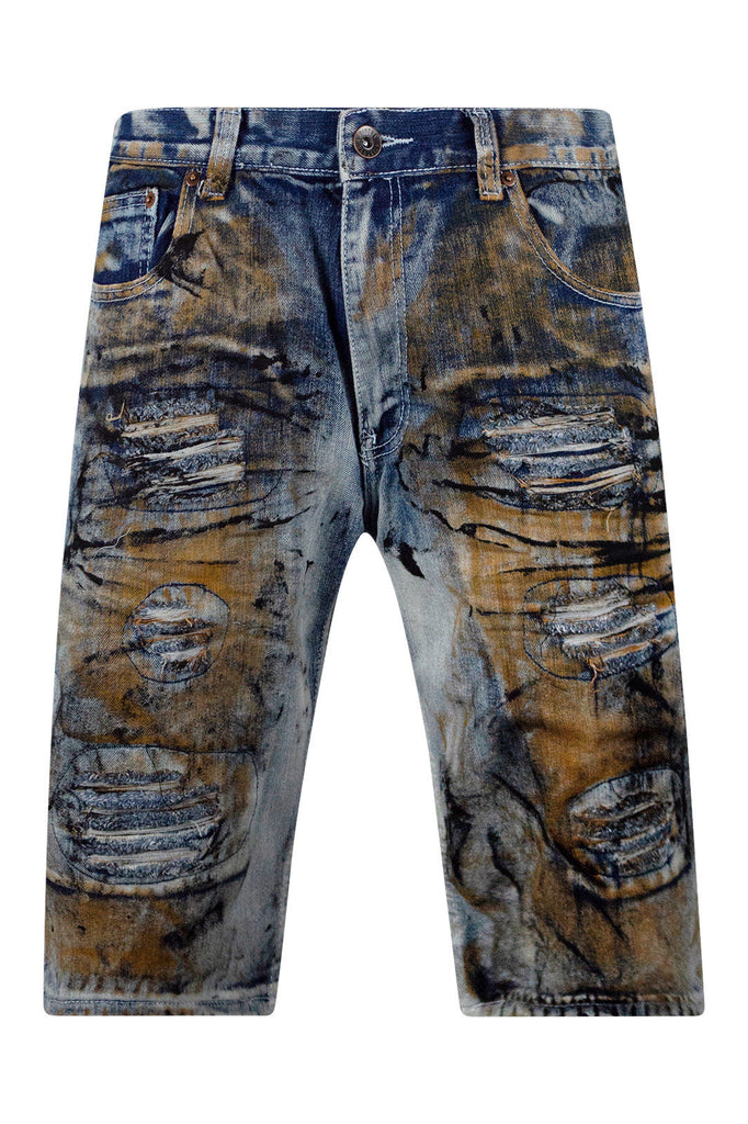 New Men Ripped Distressed Denim Shorts