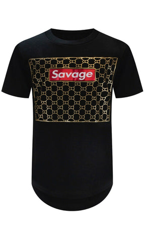 New Savage Barbwire Gold T-Shirt