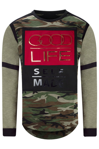 New Men Good Life Long Sleeve Shirt
