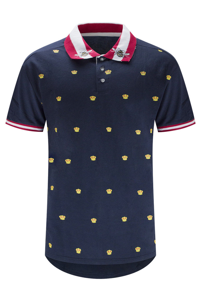 NEW Men Polo Crowns Logo Tee