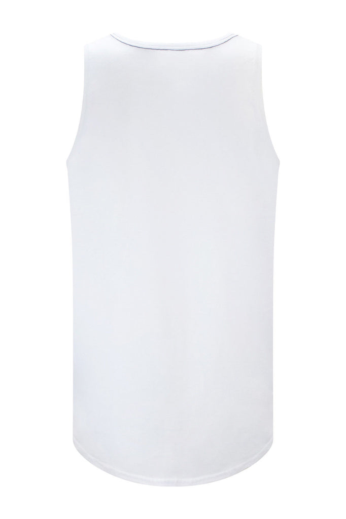 Men Bulls Magic Sequin White Tank Top