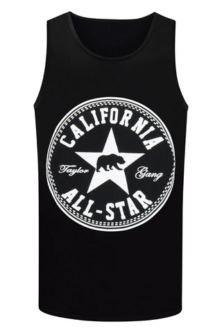 NEW Men Cali Tank Top California All-Star Badge CA Cali Shirt Sleeveless S-XL