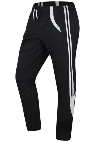 New Men Elastic Black Track Pants