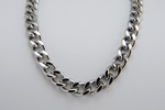 "New Stainless Steel Cuban Chain Necklace 24"" Length"