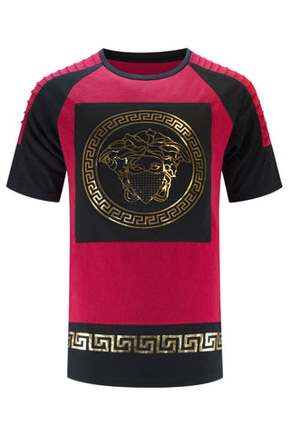 New Men Medusa Gold Foil Tee