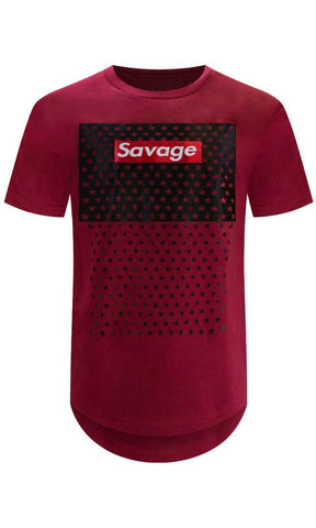 New Savage Burgundy T-Shirt