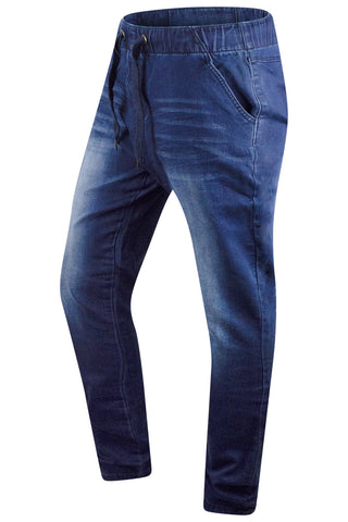 New Men Denim Solid Blue Elastic Jeans