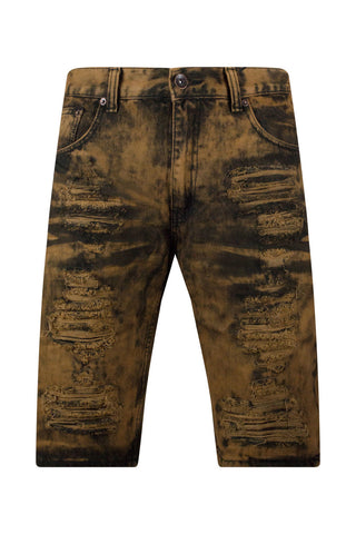 Ripped Rusted Denim Jean Shorts