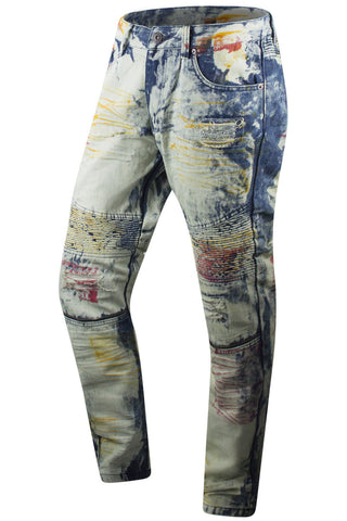 New Men Premium Biker Denim  Blue Jeans