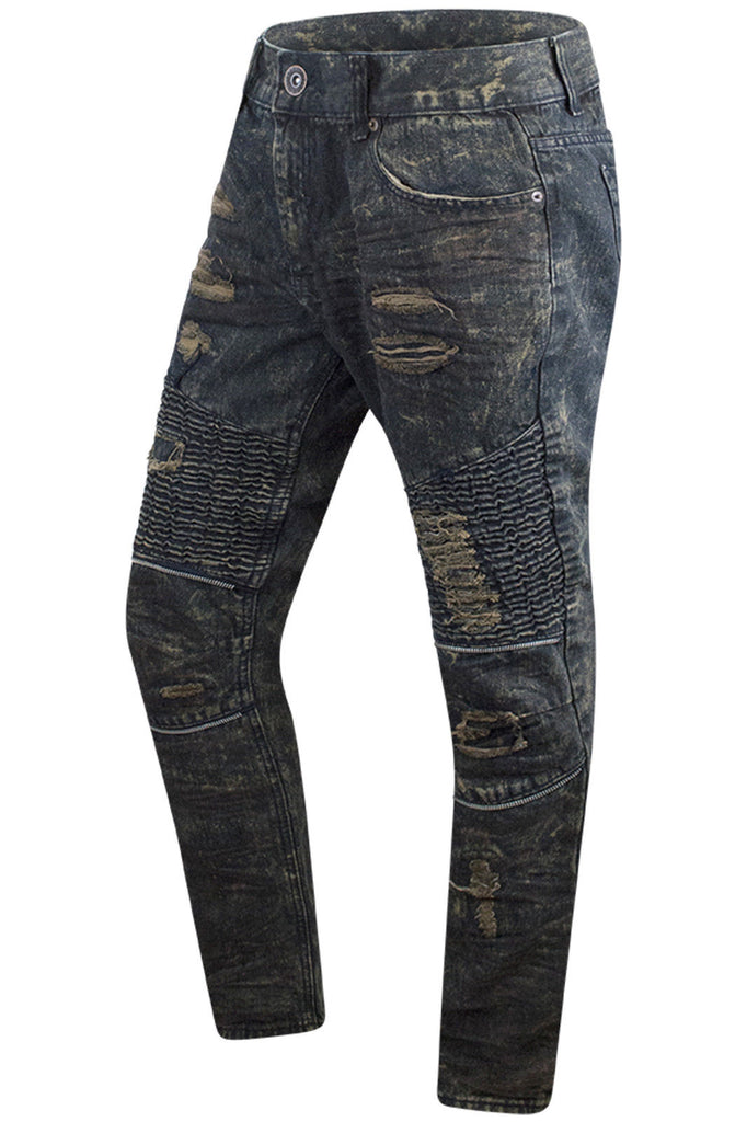 New Men Denim Rust Blue Jeans Original Fit