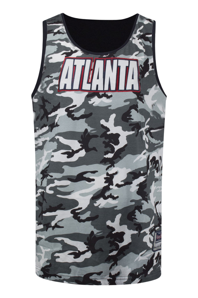 NEW Men Atlanta GE Tank Top Camo Sleeveless Sizes M-3XL Black White Army