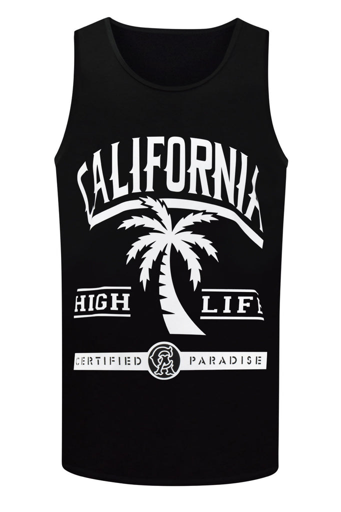 NEW Men California CA Tank Top Shirt Palm Trees Cali LA Sizes S-3XL High Life