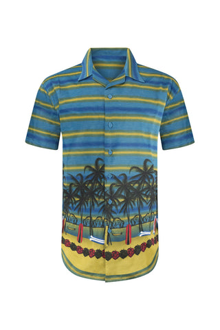 New Men Sublimation Vacation Button Up Shirt