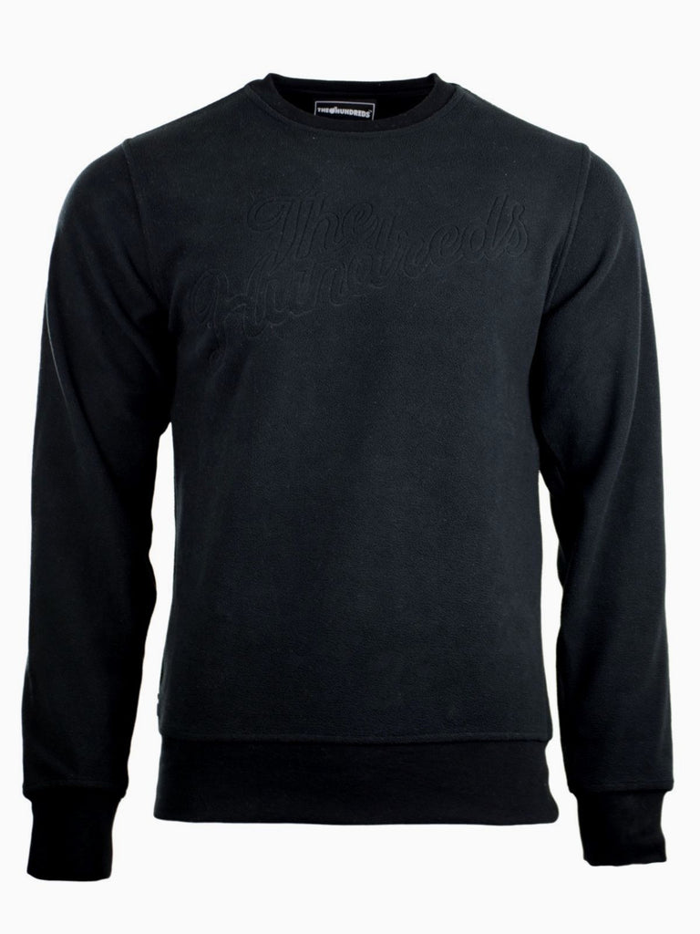 The Hundred Sweatshirt Sweater Pullover S Black Suede Crewneck Longsleeve Shirt