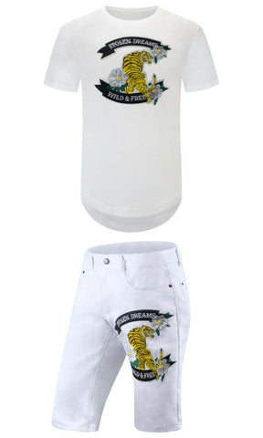 New Yellow Tiger Embroider Outfit