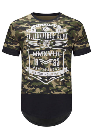 New Men Camo Billionaires Club T-Shirt