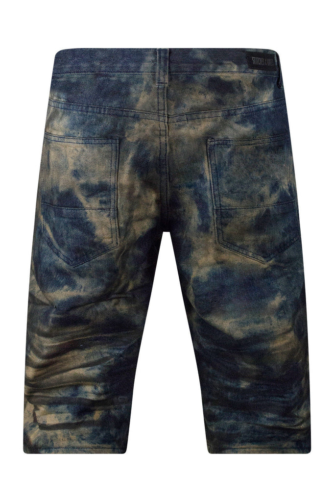 New Men Rusted Blue Denim Shorts