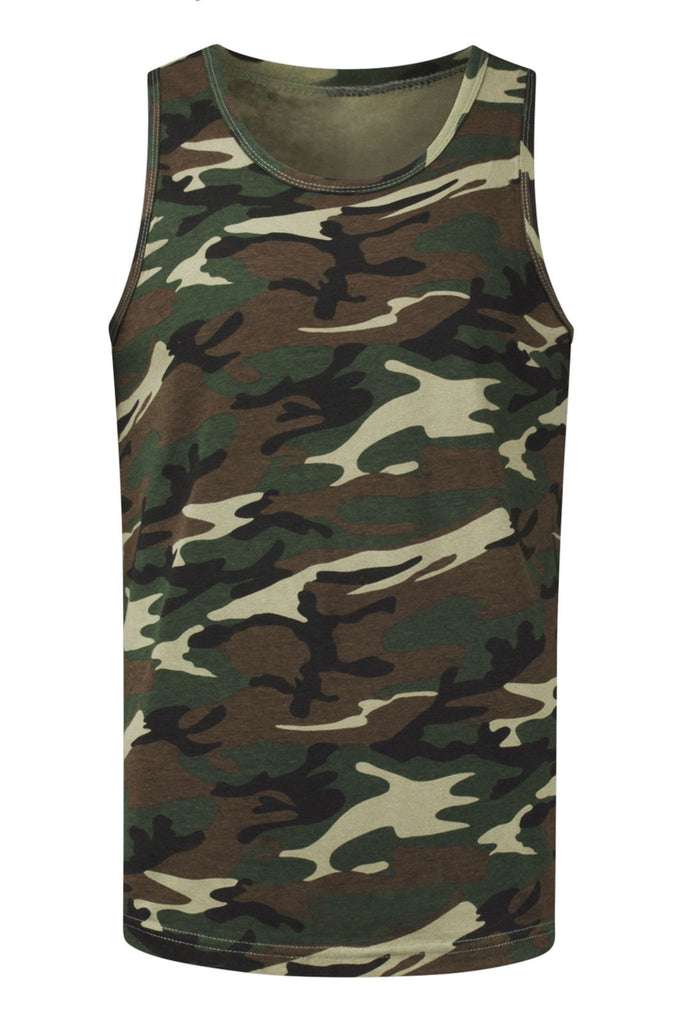 3339820aa277a NEW Men Army Camo Tank Top Sizes S-3XL Camouflage Shirt Military Colors