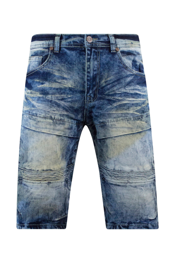 New Men Ripped Denim Biker Shorts