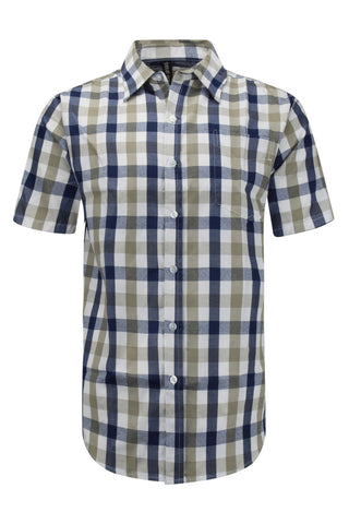NEW Men Button Up Down Shirt Striped Plaid