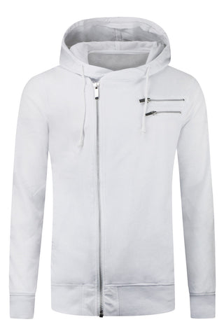 New Men White Hoody Jacket