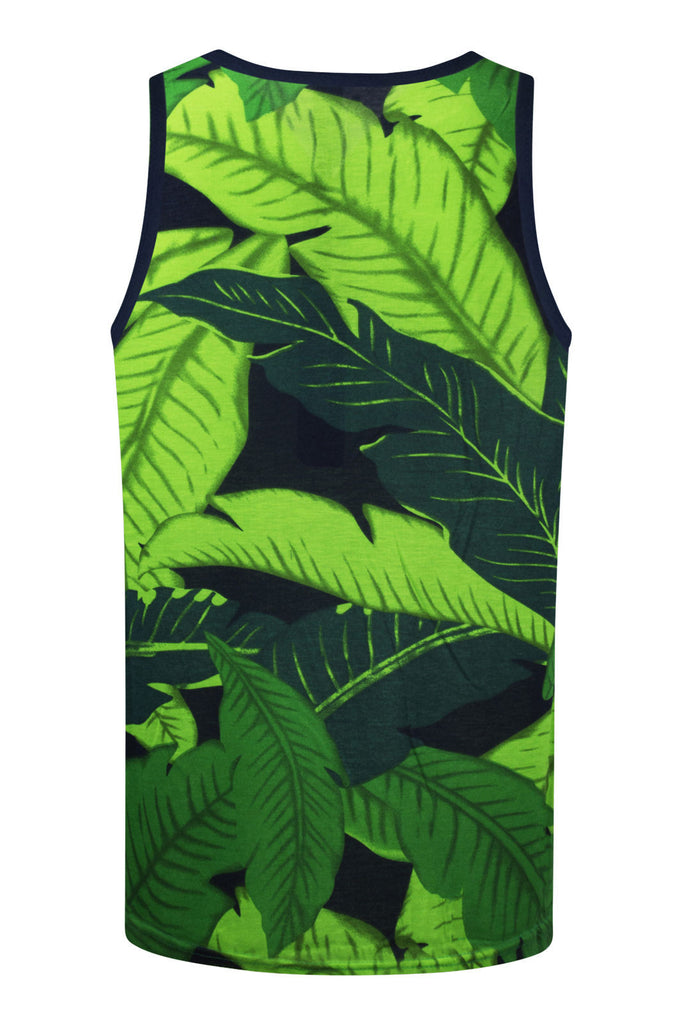 NEW Men Weed Leaves Bud Tank Top Hawaii Shirt Leaf Sizes S M L XL Green Black
