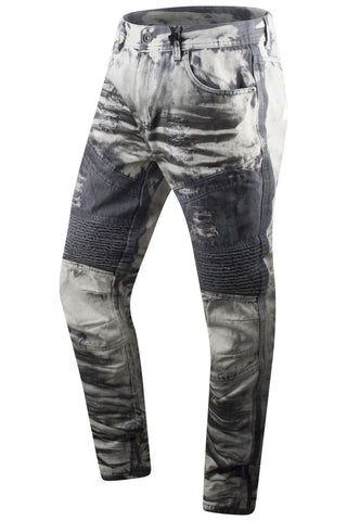 New Men Paint Splattered Denim Jeans