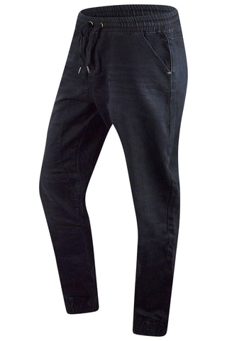 New Men Denim Jogger Black Elastic Jeans