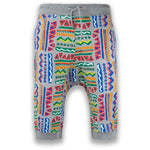 NEW Men Gray French Terry Caprice Jogger Shorts Joggers Abstract Art Size S-XL