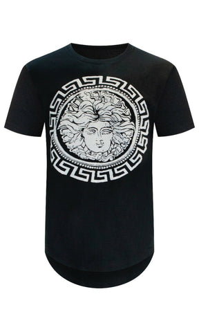 New White medusa Printed T-Shirt