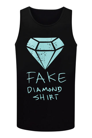 NEW Men Diamond Supply Co Fake Tank Top Blue Sizes M L XL 2XL Royal Young