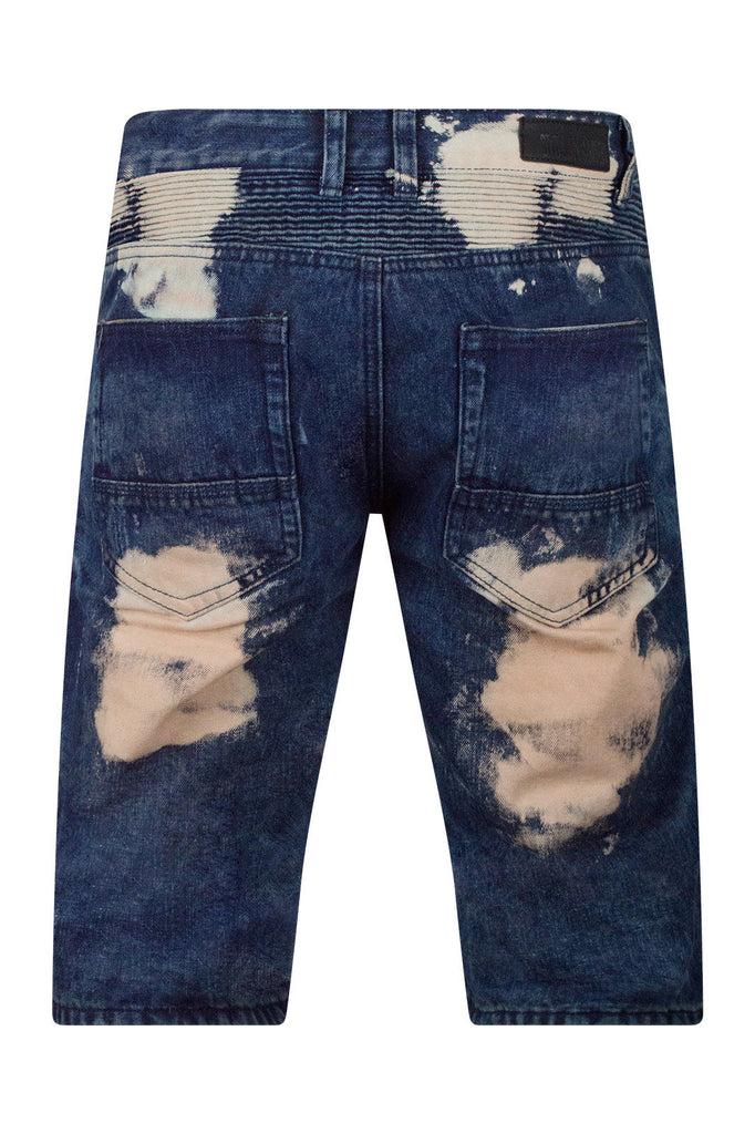 New Men Biker Denim Blue Shorts