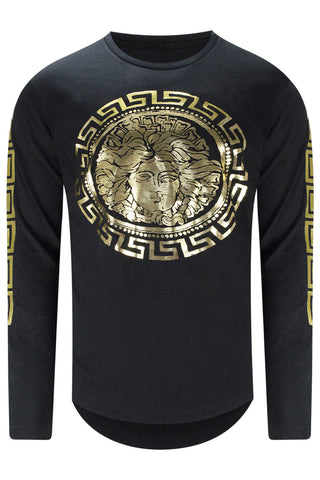 New Men Medusa Long Sleeve T-Shirt