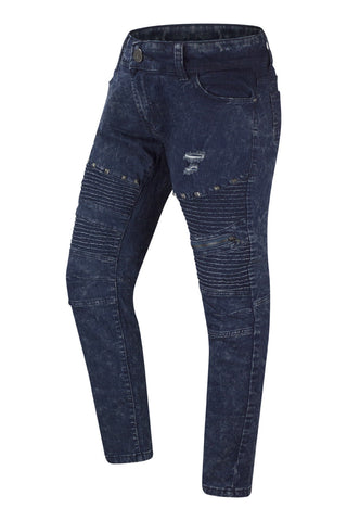 New Men Biker Denim Studded Blue Premium Jeans