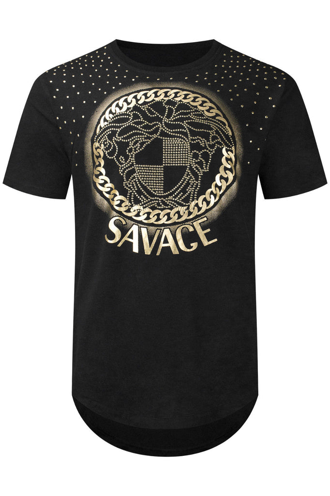 New Men Gold SAVAGE T-Shirt