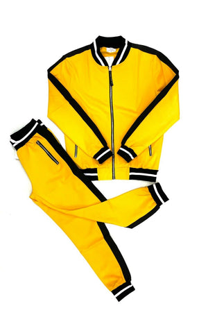Mens 2-Piece Tracksuits Sports 2-Tone Active Athlete Super Flex Jacket+Pants 3 Colors