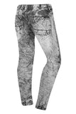 New Men Biker Jogger Pants Acid Wash Regular Fit