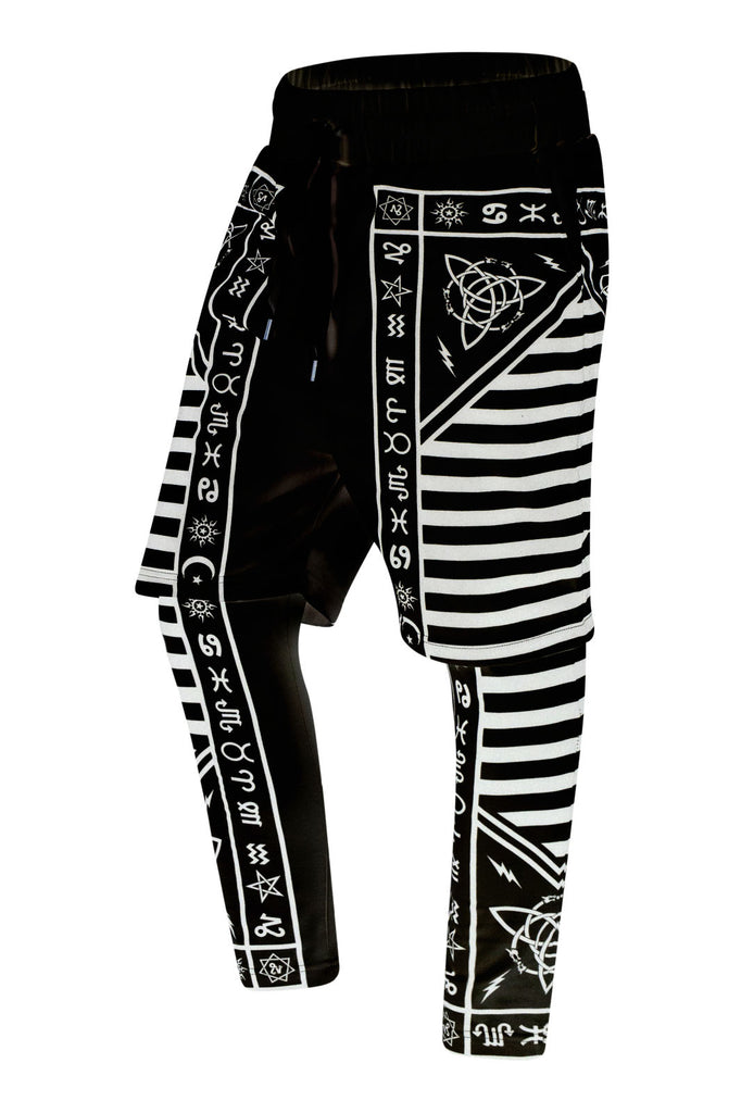 New Men Tribal Compression Jogger Pants