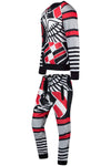 New Men Abstract Matching Set Suit