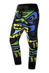 New Men Demon Printed Fleece Jogger Pants Slim Fit