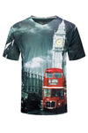 NEW Men Sublimation London Watchtower Clocktower  Size S-2XL V-Neck