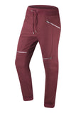 New Men Fleece Biker Jogger Pants With Zippers Slim Fit